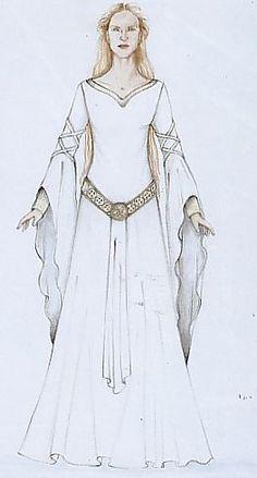 Eowyn's white wool gown
