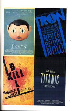 AFFICHE : Alternatieve filmposters van bekende en niet-bekende films. Meeste posters zijn gekozen doordat ze iets met typo doen.