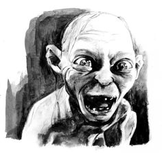 Gollum by *RobD4E on deviantART