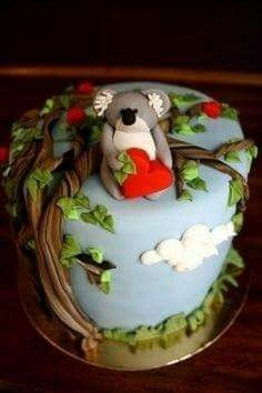 Stupendous 26 Best Koala Cakes Images Cupcake Cakes Animal Cakes Funny Birthday Cards Online Hetedamsfinfo