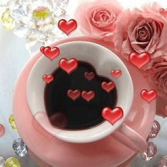 Love my coffee animation Coffee Gif, Coffee Images, I Love Coffee, My Coffee, Morning Love, Good Morning Coffee, Good Afternoon, Gif Café, Animated Heart