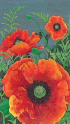 color: -webkit-text-stroke: {font-kerning: none} This Collage-Painting of a field of Oriental Poppies uses cut paper with swirling ink and organic inclusions, allows the wood grain to show through. Paper Cutting, Poppies, My Arts, Collage, Ink, Art Prints, Plants, Painting, Color