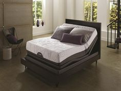 The Motion Custom is considered the apex of luxury in the adjustable bed industry. Designed specifically by Ergomotion for Serta®, unlike most adjustable beds t