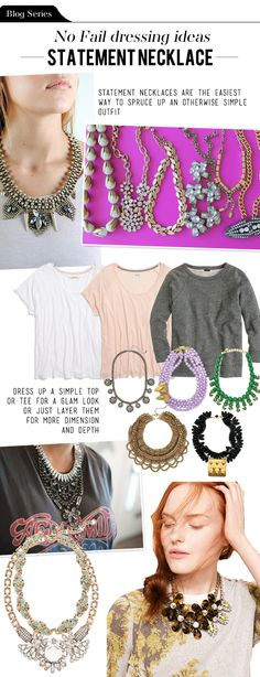 The Vault Files: Blog Series: No fail dressing ideas - The Statement Necklace