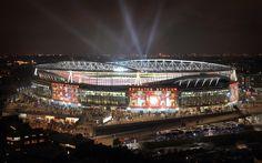 the emirates stadium, london - home to arsenal football club :) <3