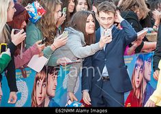Leicester Square, #London UK. 12th August 2014. #DanielRadcliffe arrives at the UK premiere of his latest movie #WhatIf at the Odeon West End © Lee Thomas/Alamy Live News