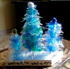 Plastic Bottle Christmas Trees Craft WorkPlastic