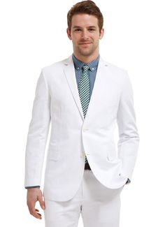I want a white linen suit for summer.  Bonobos is the best!
