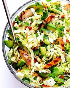 Can't get enough of this yummy Asian Chicken Chopped Salad! It's made with delicious marinated…