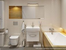 DOM.PL™ - Projekt domu MT Ambrozja 2 CE - DOM ST9-25 - gotowy koszt budowy Cottage Plan, Sweet Home, Bathtub, Vanity, How To Plan, Bathroom, Home Plans, House, Standing Bath