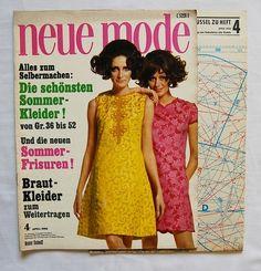 Sechziger Jahre Schnittmuster - Neue Mode 4/68