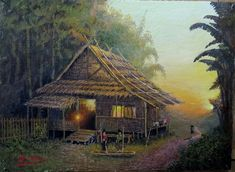 Cabin, House Styles, Painting, Home Decor, Homemade Home Decor, Paintings, Interior Design, Draw, Cottage