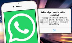 A number of WhatsApp users have been warned not to update their chat app