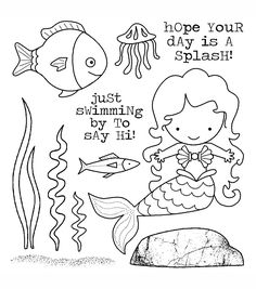 Darcie's Cling Mounted Rubber Stamps - Mermaid