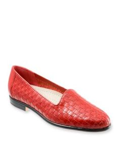Trotters Red Liz Woven Loafer