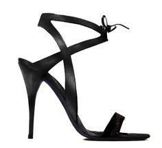 Narciso Rodriguez Black Strappy Sandal