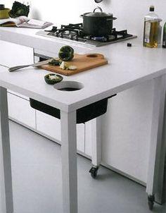 Flexibel och funktionell köksbänk