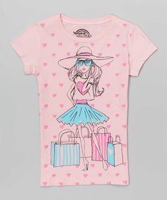 Another great find on #zulily! Light Pink Shopping Girl Tee #zulilyfinds