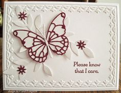Please Know That I Care card by Carol Longacre