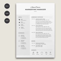 Resume Types Resume Template Professional Resume Template Instant Download .