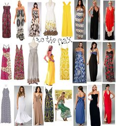 Maxi Desses. An easy way to spice up a summer night!