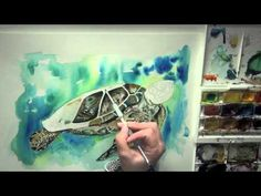 Speed painting of one of Meg's latest creations - Turtle - available as Prints Cards and Mugs ... www.meghawkinsillustrations.co.uk Speed Paint, Watercolour, Turtle, Mugs, Cards, Prints, Painting, Pen And Wash, Watercolor Painting