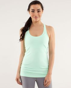 Size: 2 Color: Fresh teal          Layered, reversed or on its own, this versatile tank has our bases covered.