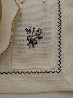 Linen Placemats, Cross Stitch Bird, Gifts For Your Mom, Gift Table, Table Linens, Purple Flowers, House Warming, Hand Sewing, Table Decorations