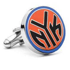 Officially licensed New York Knicks NYK Logo Cufflinks by NBA. Available at www.CUFFZ.com.au