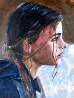 """Dutch talent on the rise: Hannah Hoekstra in """"Hemel"""" (Heaven). acrylic on paper"""