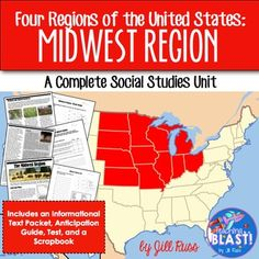 Regions of the united states midwest informational text 5 regions midwest region complete unit four regions of the united states fandeluxe Images