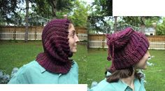 Easy free pattern.  I made these very easy convertible hats for gifts and they went down a storm. Easy to make and quick to make up.