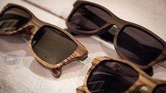Gafas de sol de madera para el verano