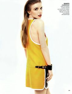 FAY for GLAMOUR Italy - 2013. Women's Spring Summer 2013 collection - Minidress.