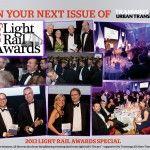 Tramway & Urban Transit magazine de décembre 2013 revient sur les Worldwide winners des Light rail Awards 2013 et sur le prix de Supplier of the year de rcp design global