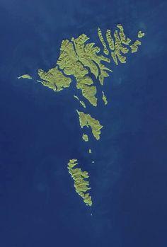 NASA satellite image of the Faroe Islands Rest Of The World, Travel Around The World, Around The Worlds, Kingdom Of Denmark, Faroe Islands, Archipelago, Helsinki, Oslo, Finland