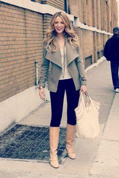 shoes blake lively serena van der woodsen gossip girl boots jacket