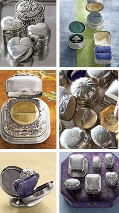Antique ring boxes.  Fabulous.