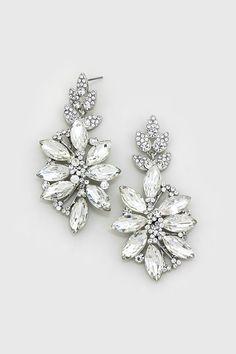 Crystal Charisse Earrings in Ice