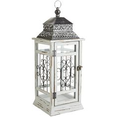Wood Lantern - Gray Large