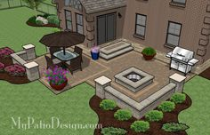 Fun, Family Patio | Patio Designs and Ideas - straight line version
