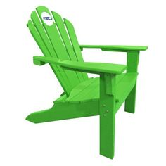 Seattle Seahawks Big Daddy Adirondack Chair Lime Green