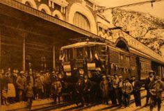La inauguración de la estación en 1928