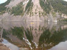 Dog Lake near White Pass, WA in the kayak