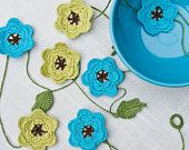 Floral Crochet Wedding Garland - Custom Order, in your color choices