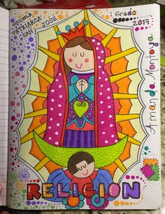 Notebook Doodles, My Notebook, Hig School, School Notebooks, Maria Jose, Decorate Notebook, Diy And Crafts, Religion, Letters