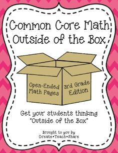 Create●Teach●Share: Common Core Math {Outside of the Box} 3rd Grade Edition