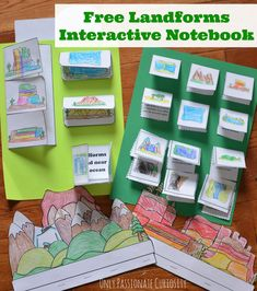 Free Landforms Interactive Notebook | visual/instructions for the lapbook