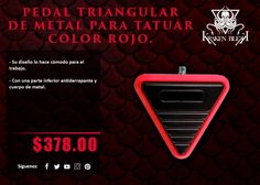 Kraken Blekk: Pedal Triangular de metal color rojo - ¡Disponible en Kichink!