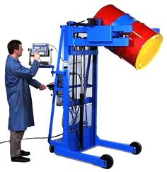 Vertical-Lift Drum Pourer  with Air Power Lift and Tilt